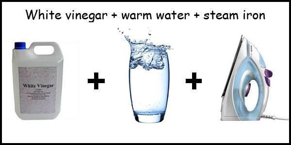 Vinegar + Water + Iron