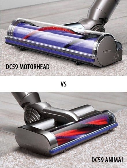 Dyson DC59 MotorHead vs Animal