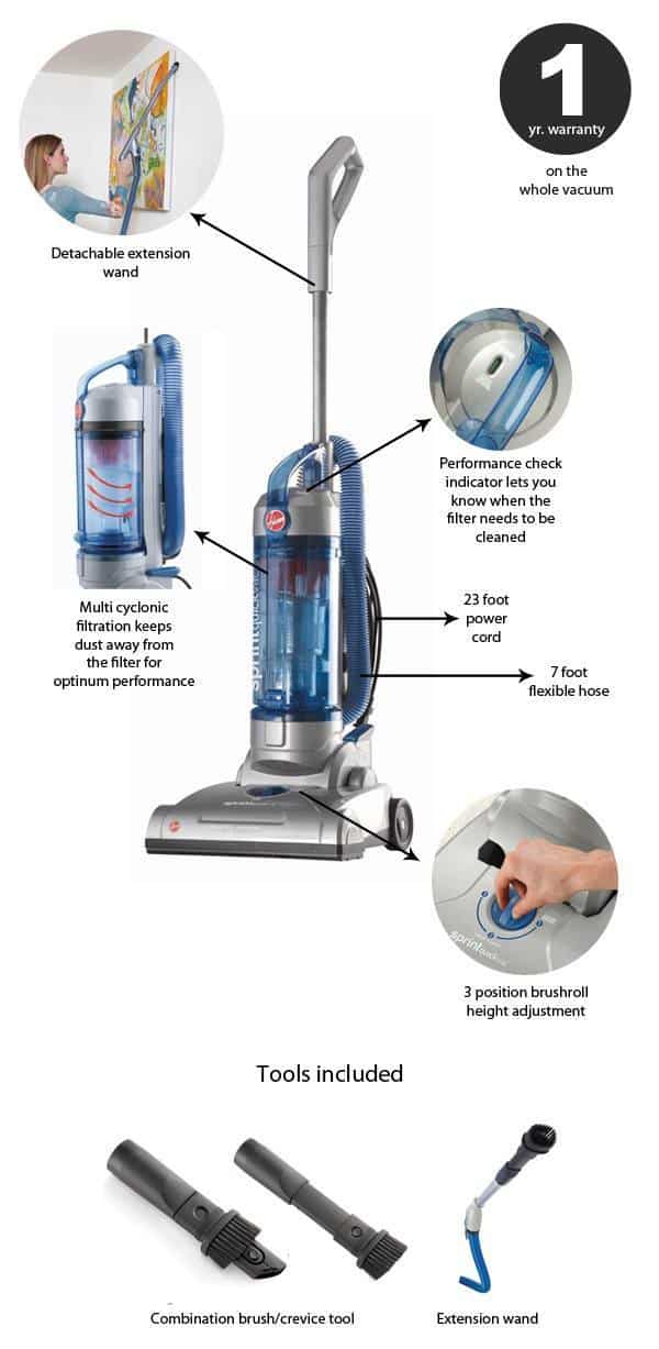 Hoover Sprint Quickvac Uh20040 Review Good Budget Upright
