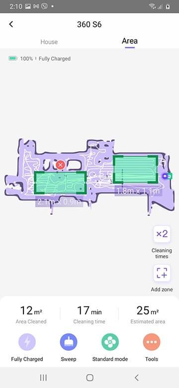 360 S6 area feature