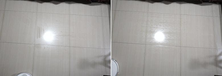 360 S6 mopping before and after shots after run 2
