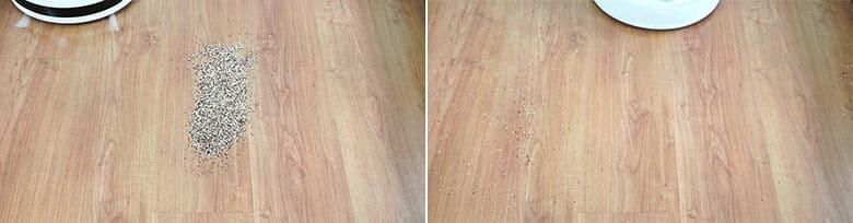 360 S6 cleaning quinoa on hard floor