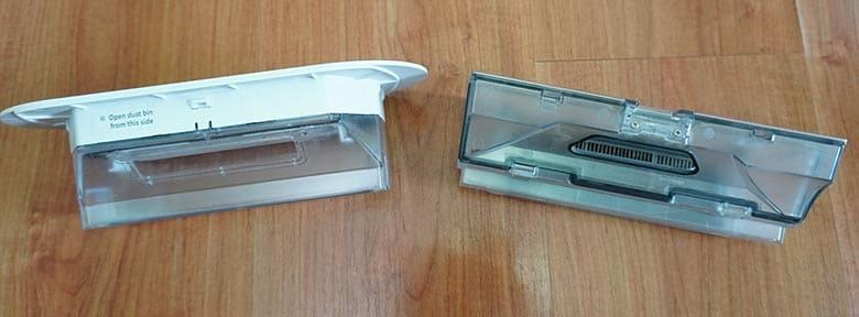 360 S6 vs Roborock S5 Max dustbin comparison