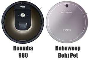 Bobsweep Bobi vs Roomba 980