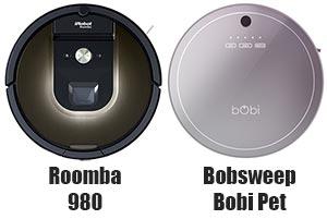 Bobsweep Bobi vs Roomba 980
