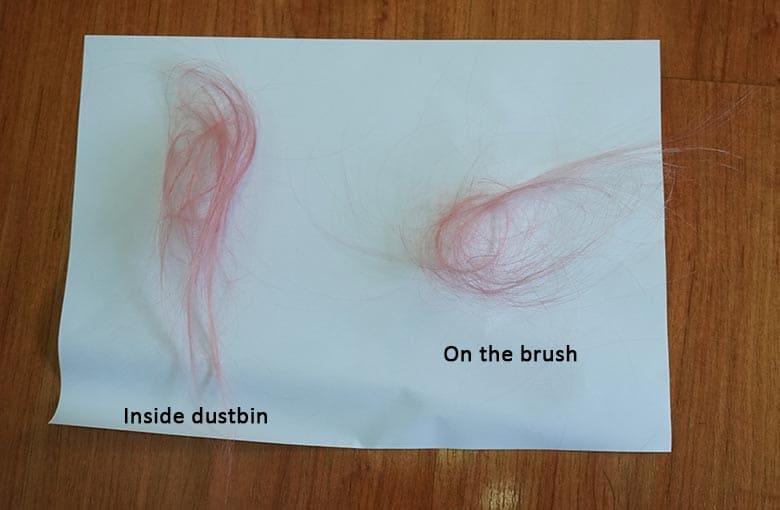 Dreame D9 hair wrap test