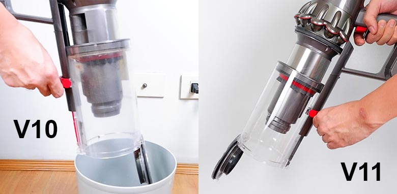 Dyson V10 and V11 has the hygienic system