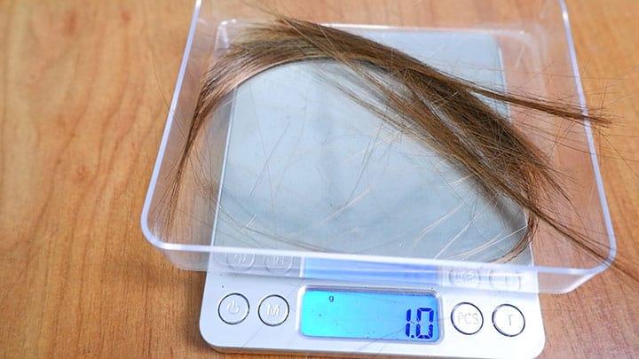 Dyson V10 hair wrap test subject