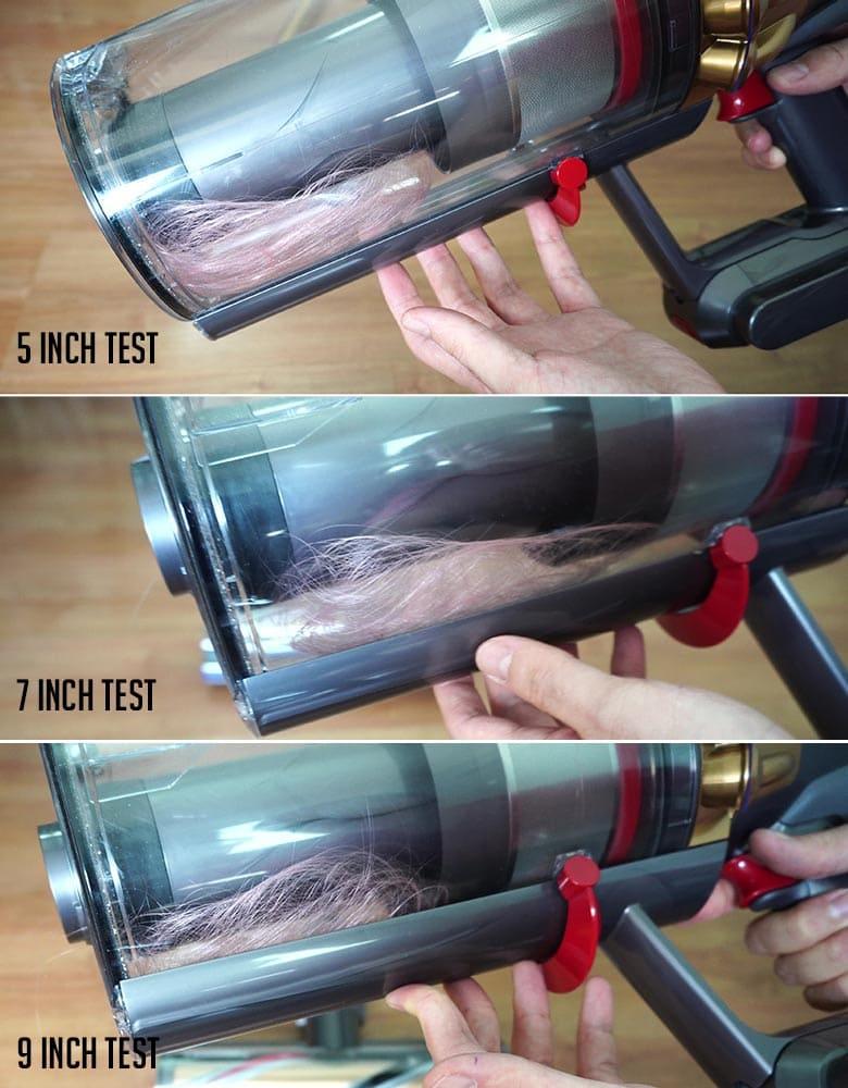 Dyson V11 Outsize Hair wrap test results