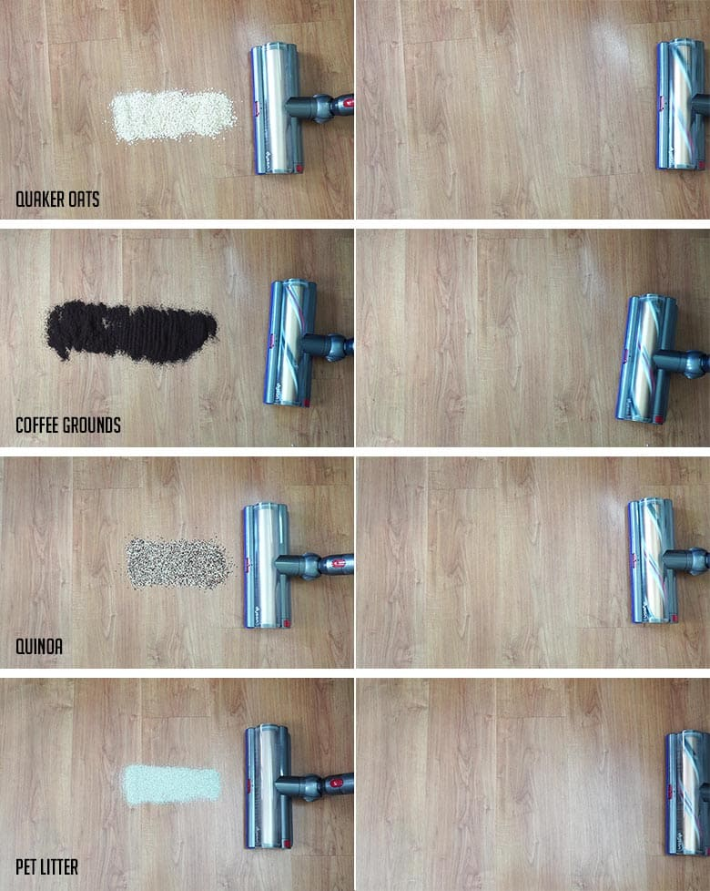 Dyson V11 Outsize hard floor cleaning test results