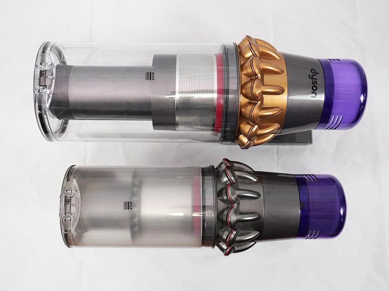 Dyson V11 Torque Drive and Outsize side by side