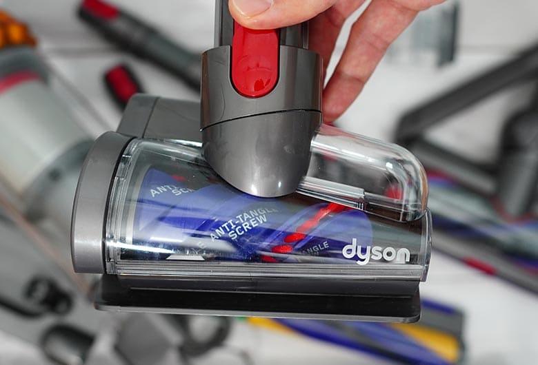 Dyson V15 anti-tangle mini-turbo brush