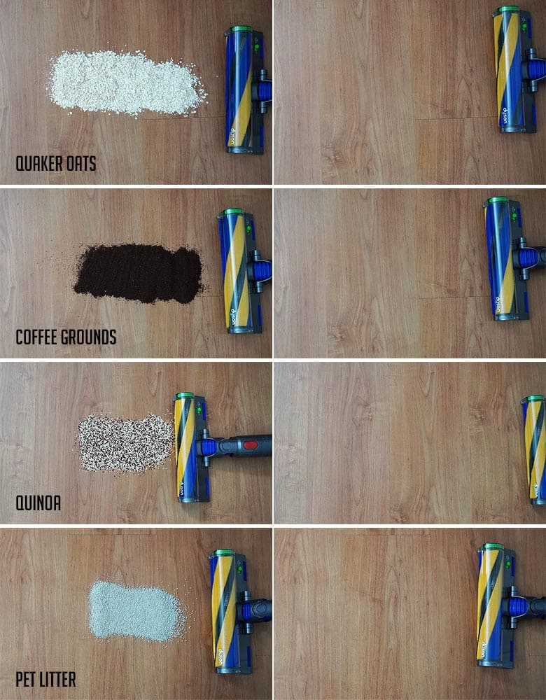 Dyson V15 hard floor results