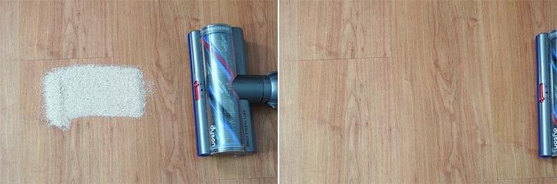 Dyson V15 sand on hard floor with torque drive attachment
