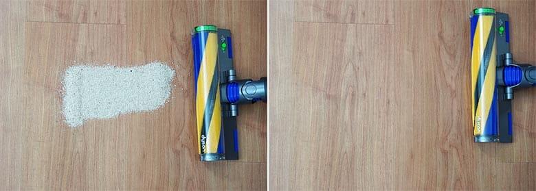 Dyson V15 sand on hard floor