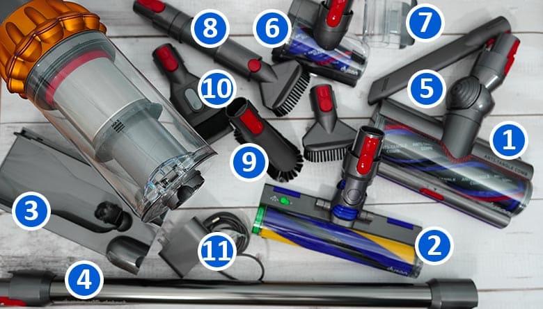 Dyson V15 tools