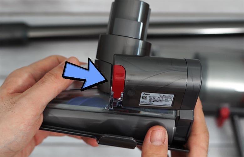Dyson V15 torque screw red lever