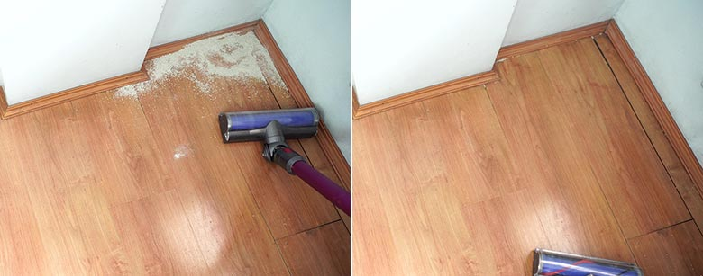Dyson V7 edge cleaning