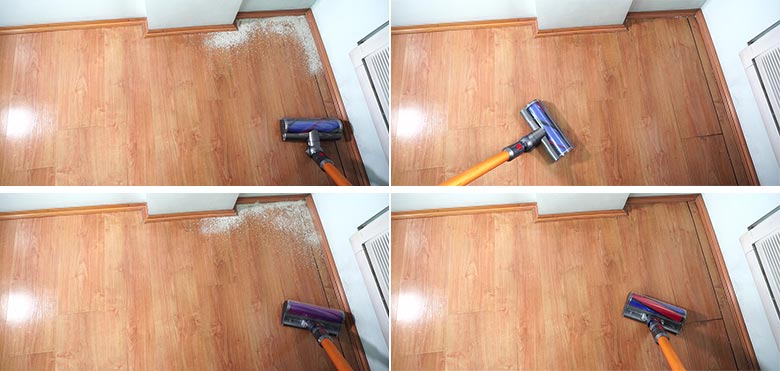 Dyson V8 edge cleaning