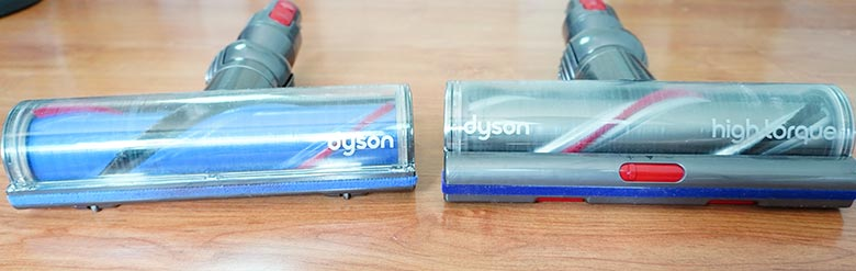 Dyson V8 and V11 Direct Drive and Torque Drive side by side.
