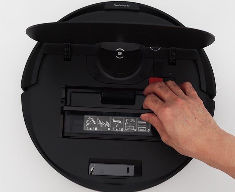 Ecovacs N8 Pro dustbin inside