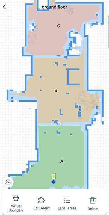 Ecovacs N8 Pro edit map
