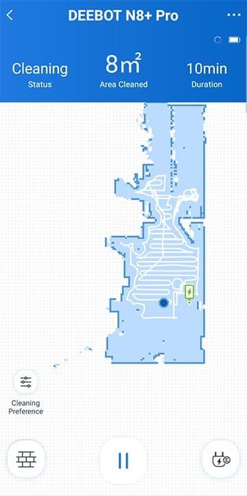 Ecovacs N8 Pro live map