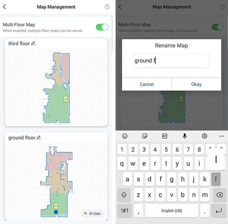 Ecovacs N8 Pro map saving