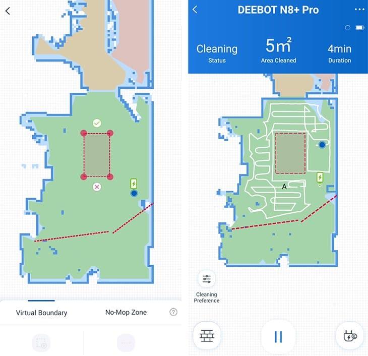 Ecovacs N8 Pro no-go zones