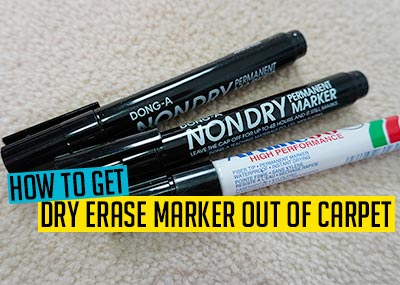 How to Get Dry Erase Marker Out of Carpet
