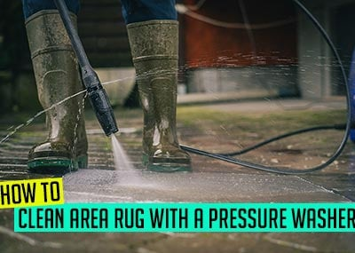 How to clean an area rug with a pressure washer