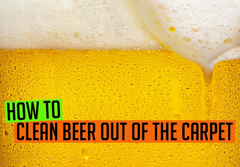 How to clean beer out of carpet