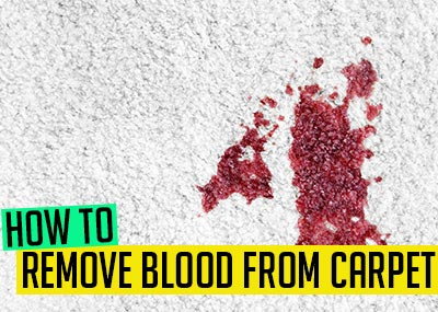 How to clean blood from carpet