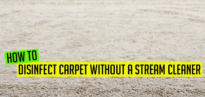 How to disinfect carpet without a stream cleaner
