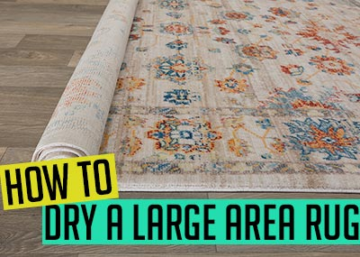 How to dry a large area rug