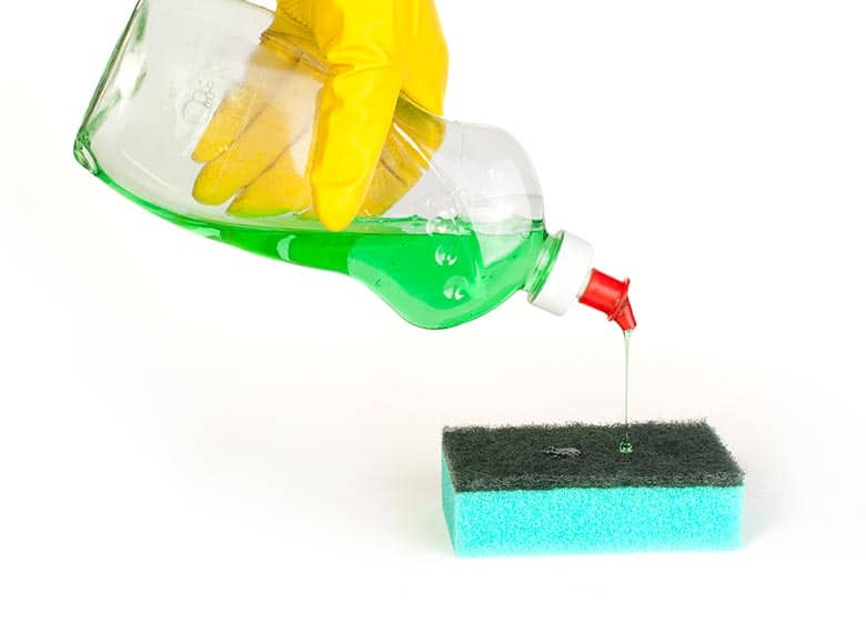 How to get dish soap out of carpet