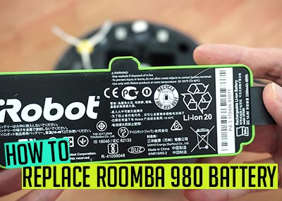 How to replace Roomba 980 battery