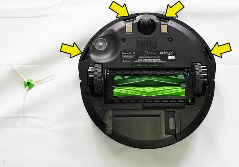 Roomba E5 base plate screw locations
