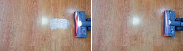 Jashen V16 cleaning pet litter on hard floor