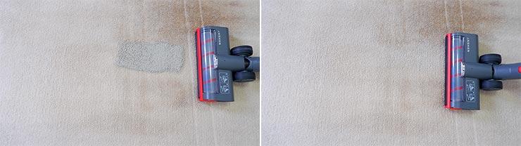 Jashen V16 cleaning pet litter on mid pile carpet