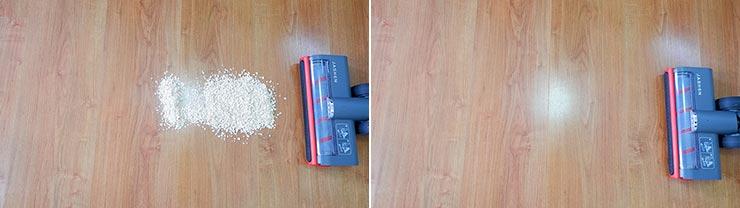 Jashen V16 cleaning quaker oats on hard floor