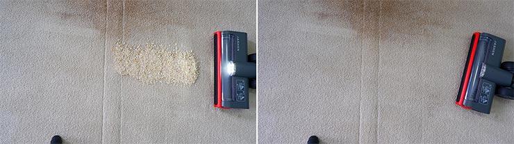 Jashen V16 cleaning quaker oats on mid pile carpet