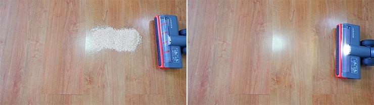 Jashen V16 cleaning quinoa on hard floor
