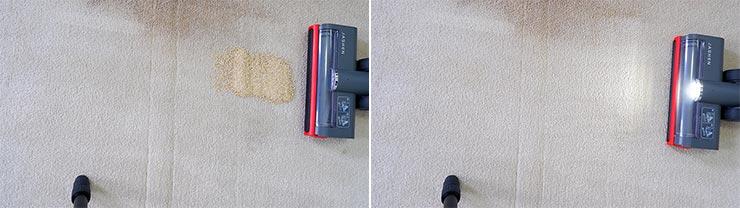 Jashen V16 cleaning Quinoa on mid pile carpet