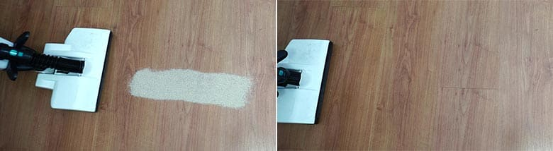 Lupe Pure sand on hard floor test