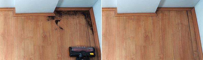 Moosoo K17 edge cleaning