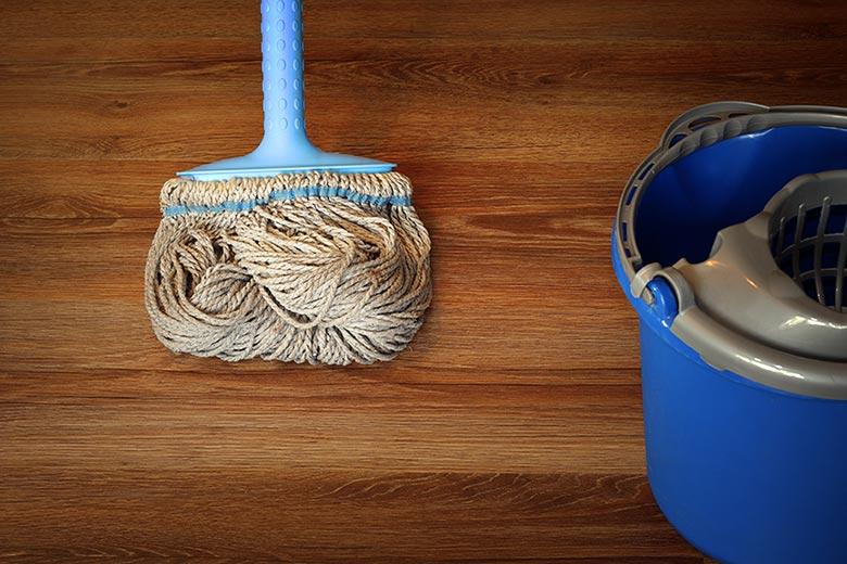 Mopping hardwood