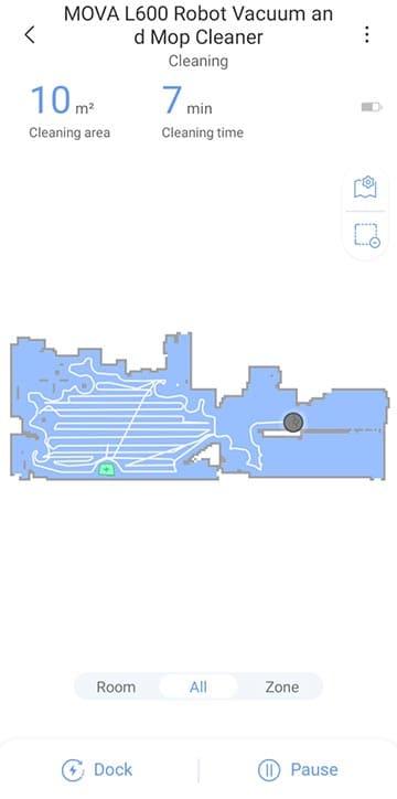 Mova L600 live map