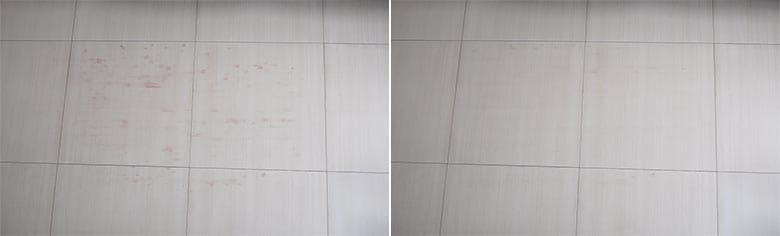 Mova L600 mopping before and after photos after the 2nd run