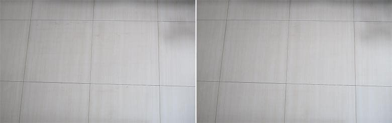 Mova L600 mopping before and after photos after the 3rd run